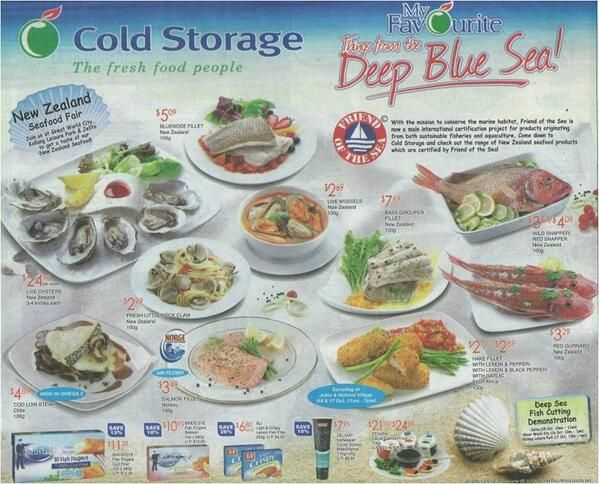 Cold Storage and Market Place Singapore supermarkets highlight Friend of the Sea products on shelves