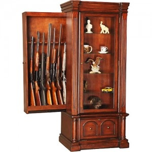 Kodiak Eight Gun Storage Cabinet With Lighted Curio