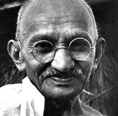 """Action expresses priorities."" - Mahatma Gandhi"