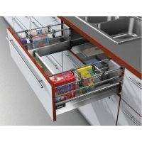 Ящик под мойку Tandembox М с двойным релингом Выдвижные кухонные ящики Тандембокс Блюм (Tandembox Blum)