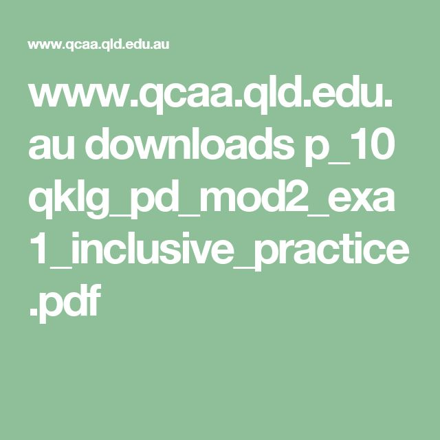 Inclusive assessment practices
