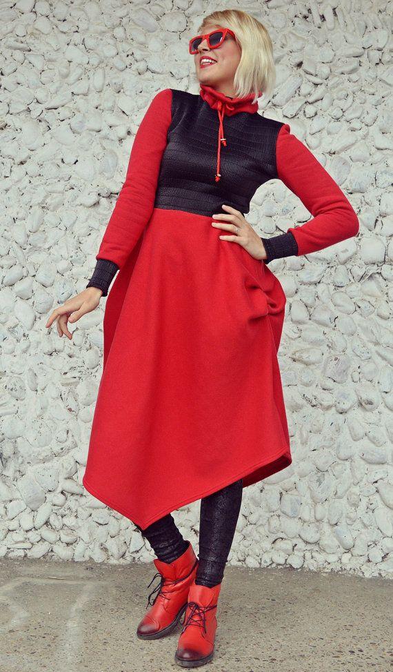 Extravagant Red Dress / Red Maxi Dress / Bright Loose https://www.etsy.com/listing/480858110/extravagant-red-dress-red-maxi-dress?utm_campaign=crowdfire&utm_content=crowdfire&utm_medium=social&utm_source=pinterest