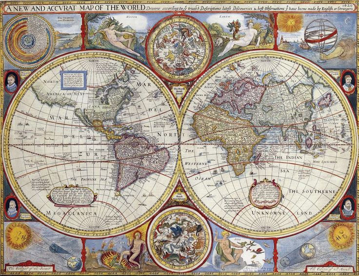 388 best maps images on pinterest maps antique maps and cards a new and accurate map of the world 1627 gumiabroncs Images