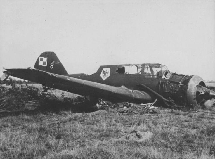 Downed Polish light bomber PZL P.23b «Karas»