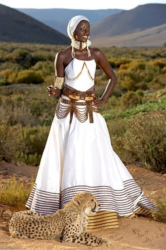 South African wedding dress