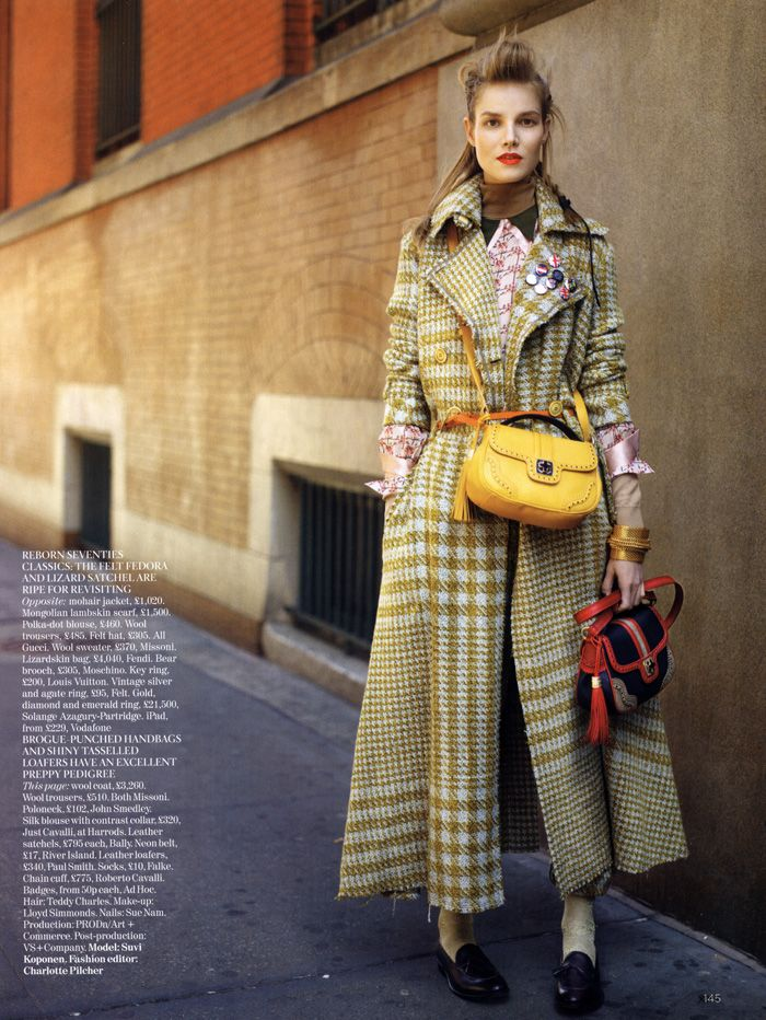 Houndstooth: Street Style, Coats Ideas, Houndstooth Heavens, Yellow Bags, Fashion Inspiration, Trench Coats, Coats Houndstooth, Raymond Meier, Street Chic