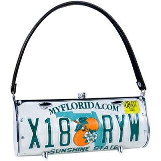 recycled license plates purse