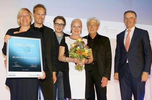 Auszeichnung für BUNDY BUNDY als Wiens bestes Familienunternehmen 2013 vom Wirtschaftsblatt