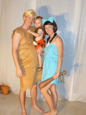 Flinstone's costumes - Barney, Betty, and Bam Bam