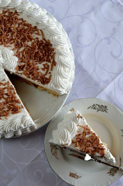 Hozzávalók 26 cm-es tortaformához: 5 dkg mazsola 1/2 dl rum + kevés a piskóta áztatásához 10 dkg vaj 50 dkg gesztenyepüré 2-3 dl t...