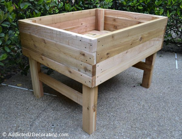 Don't tell my wife, but my next major project is this elevated garden bed for growing food on the deck of our boat.
