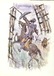 Don Quijote de la Mancha,illustrations by Aniano Lisa. Publised in  1973, Buenos Aires, by Atlantida