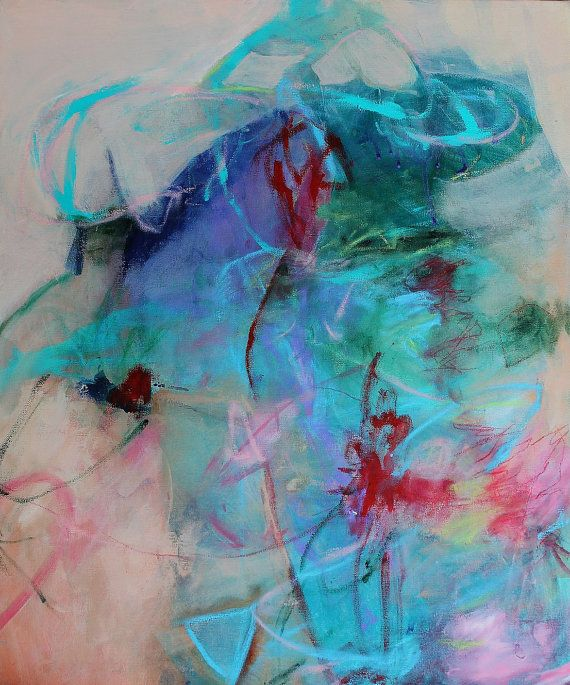 """""""Strike a Pose"""" Abstract expressionist painting Kerri Blackman"""