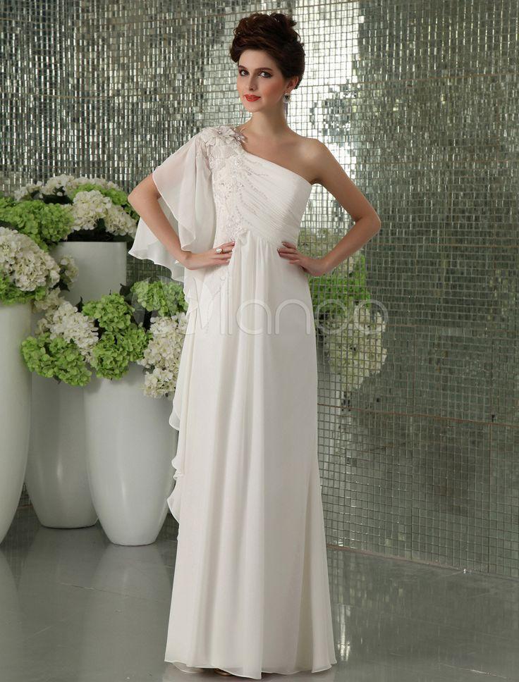 [105,48€] Vestido de noche de gasa de color marfil de estilo elegante
