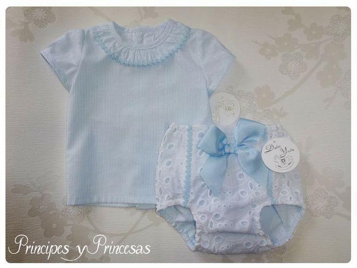 Principes y Princesas.: Braguitas con blusa a juego.