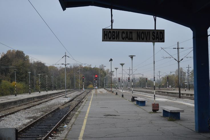Train station in Novi Sad, Serbia