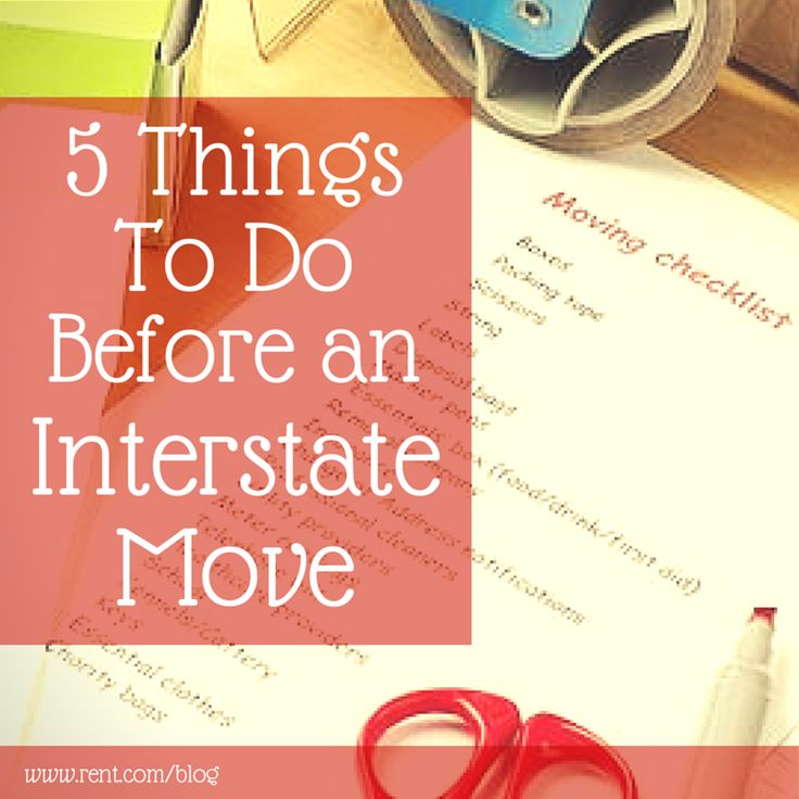 Moving to a different state is a LOT of work. We put together a list so you can make sure that the move is as stress-free as possible! #moving #todolist #stressfree