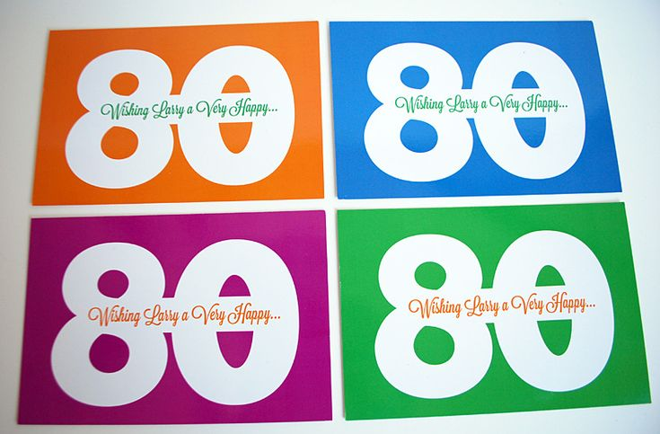 Milestone birthday idea: Birthday postcards for 80th, 75th, 70th, 65th, 60th
