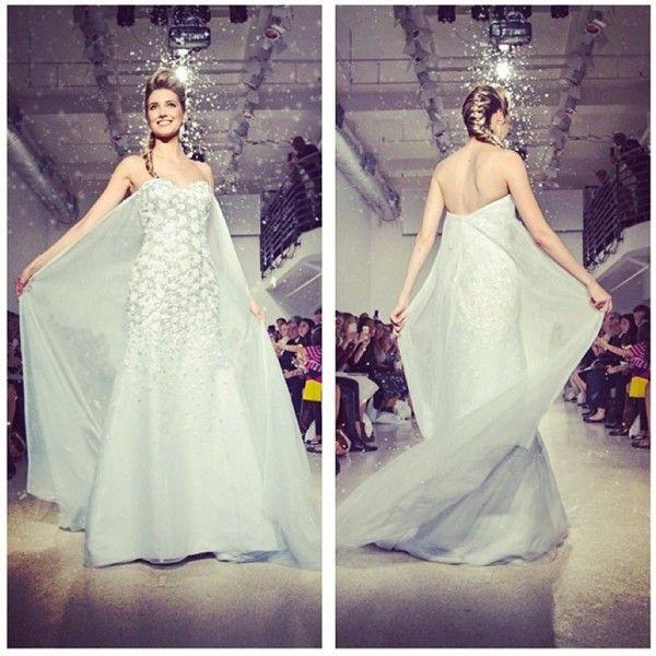 Vestido de novia inspirado en Frozen