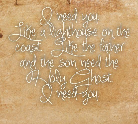 *I Need You Like A Lighthouse Needs The Shore...* - Tim McGraw & Faith Hill/I Need You