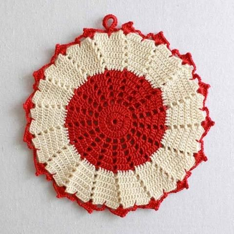 Premium Vintage Potholders - Set 2 Crochet Pattern