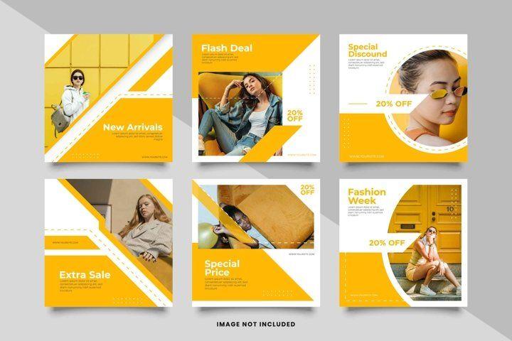 Fashion Social Media Post Template 962522 Instagram Design Bundles Social Media Post Social Media Design Social Media