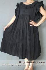 black gauze dress