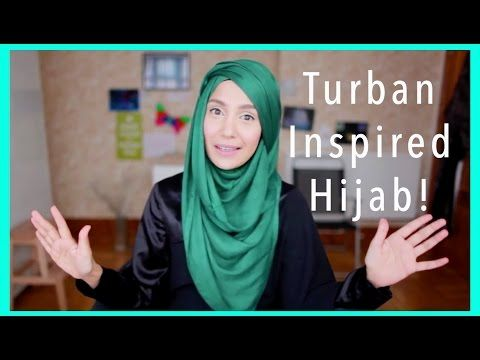 EID TUTORIAL! TURBAN INSPIRED HOOJAB! | Amena - YouTube