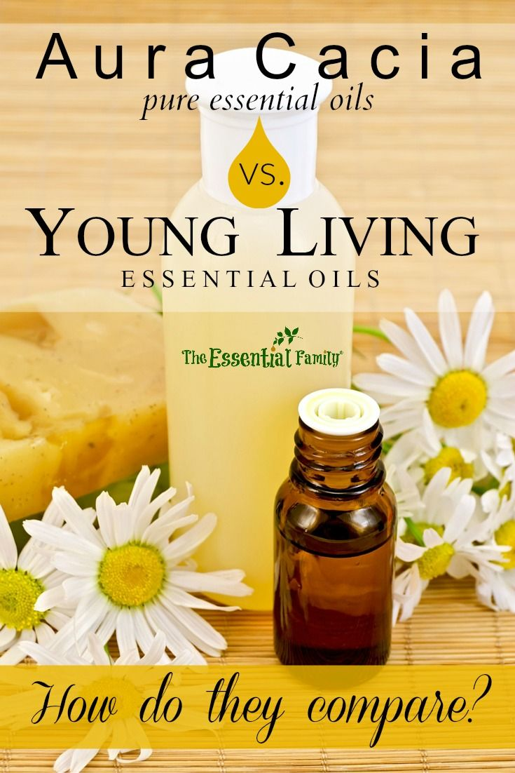 In a world full of essential oil companies, how do Aura Cacia and Young Living compare? Factual comparison without commentary.