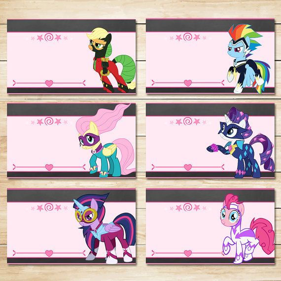 Printable My Little Pony Power Pony Birthday Food Tents Chalkboard // My Little Pony Birthday // Power Pony Party // MLP Party Supplies
