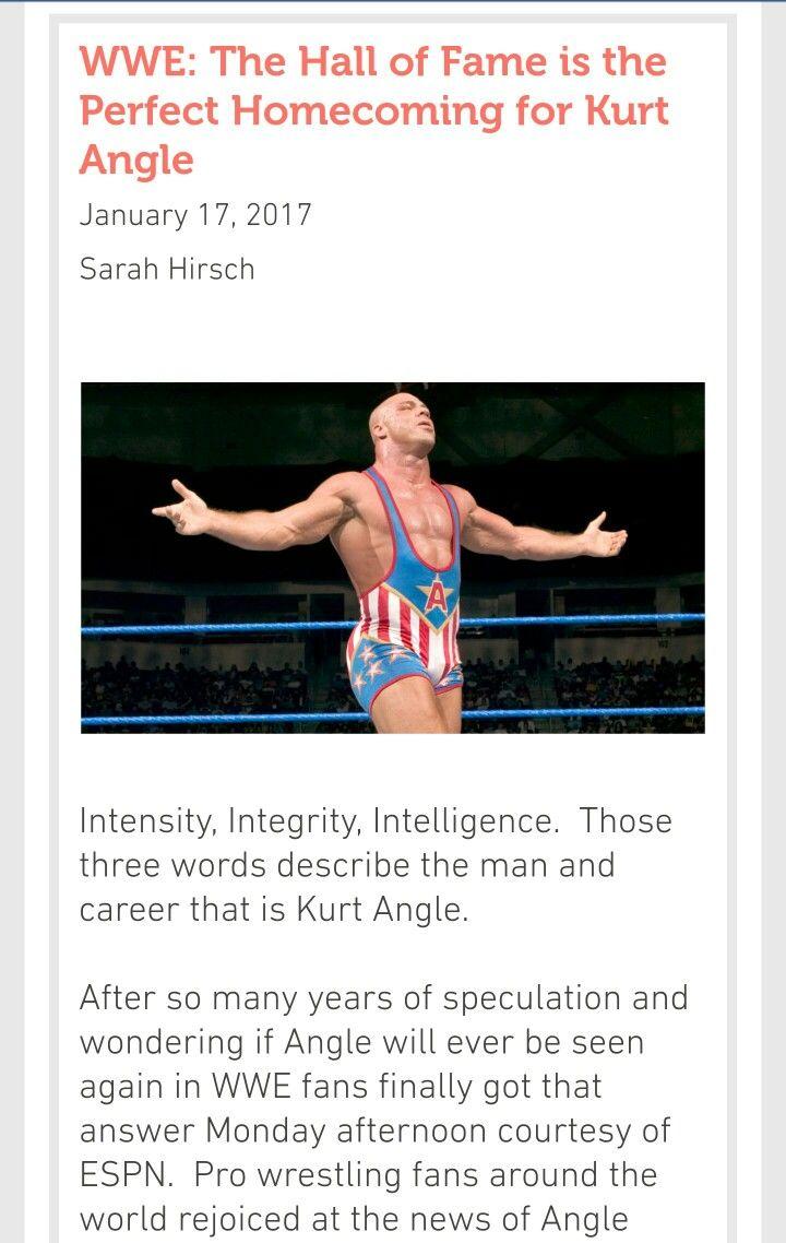 The WWE Hall of Fame is the Perfect Homecoming for Kurt Angle