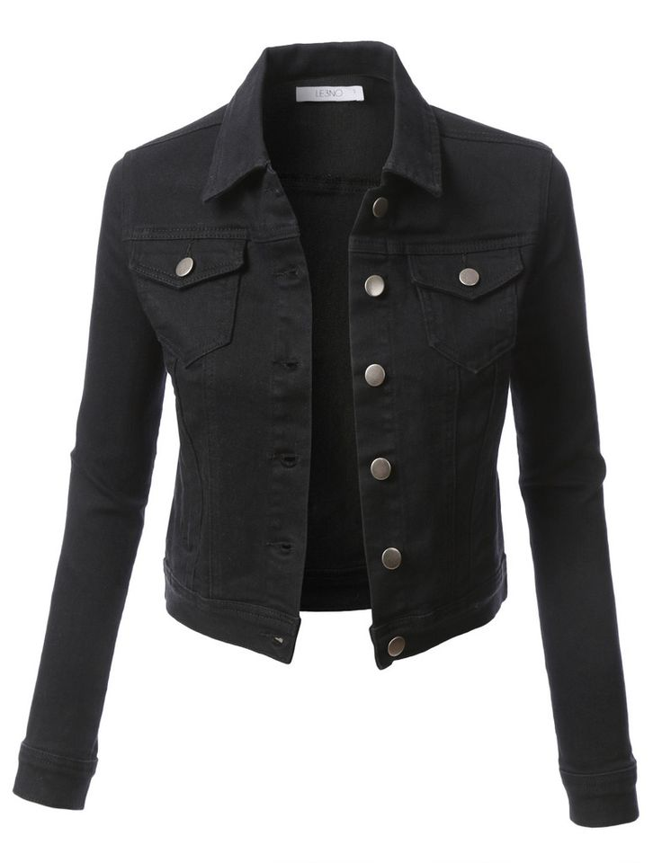 17 Best ideas about Womens Black Denim Jacket on Pinterest | Short ...