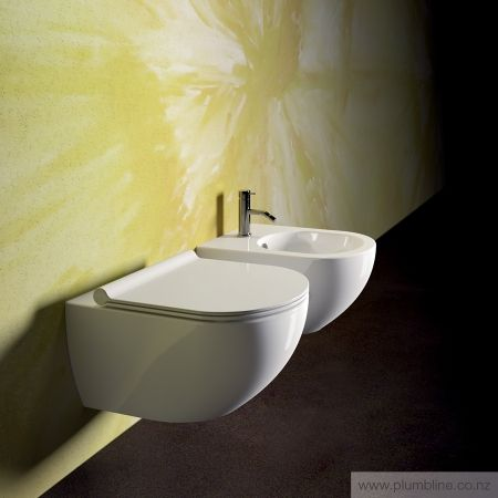 Sfera 54 Wall Hung Toilet With Slim Seat - Toilets & Bidets - Bathroom
