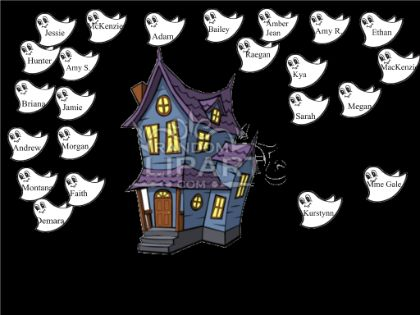 Halloween attendance - Ghosts say boo when name is touched  Resource type: SMART Notebook lesson