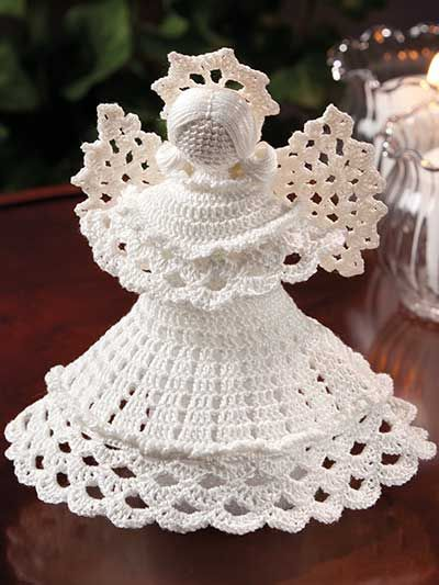 Stitch a beautiful crochet angel for the holidays or to be used year-round…