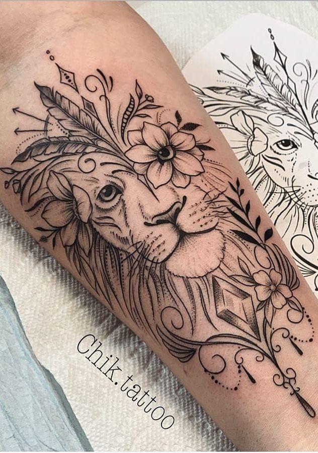 75 Bilder von weiblichen Tattoos auf dem Arm – Bilder und Tattoos – #Arm #Feminin … – Tattoo Ideen