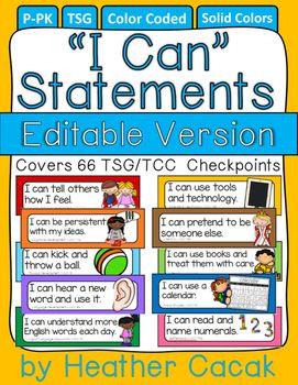 623a34d26fff057dfc38493d394bed61  i can statements pocket charts - Kindergarten I Can Statements