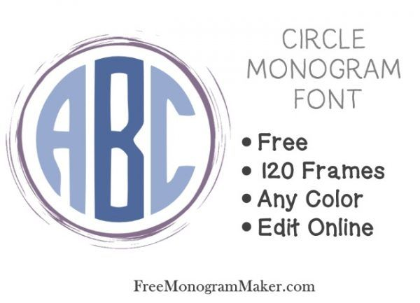 Circle monogram font free  Use our free online monogram