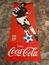 "34"" X 90"" 1994 World Cup Coca-Cola Vinyl Street Banner Los Angeles Rare Soccer"