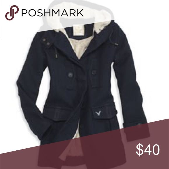 American Eagle Outfitters 🦅 Duffle Coat in Navy AEO Navy blue coat. Size XXS - for those petite ladies! Good condition! Worn exactly 1 winter season. Pictures to come (same exact style as stock photo). American Eagle Outfitters Jackets & Coats