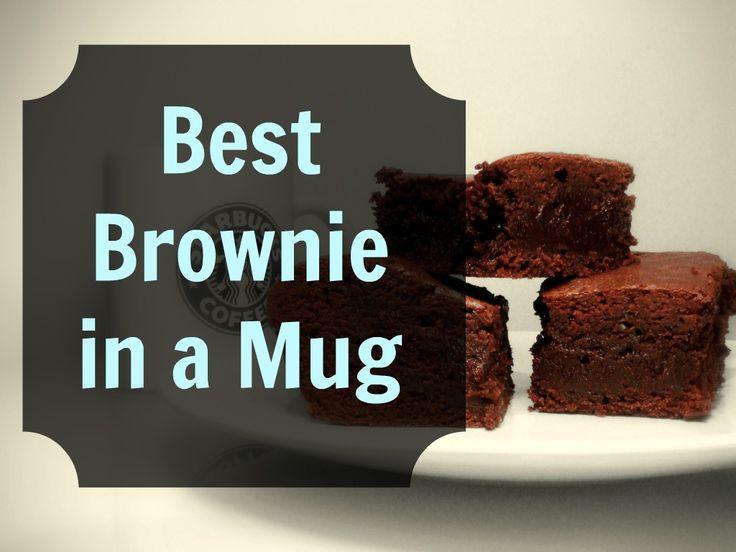 The Best Brownie in a Mug Recipe - S