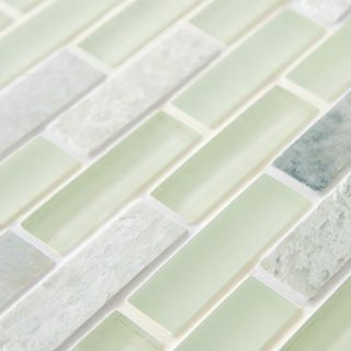 SomerTile 12x12-in Reflections Subway 5/8x2-in Ming Glass/Stone Mosaic Tile (Pack of 10) | Overstock.com Shopping - Big Discounts on Somerti...