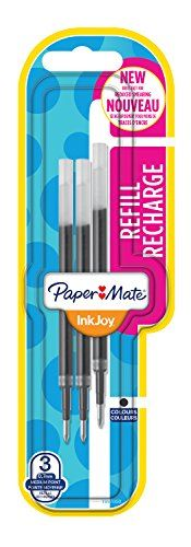 From 4.85 Paper Mate Inkjoy Gel Pen Refills - Black Pack Of 3