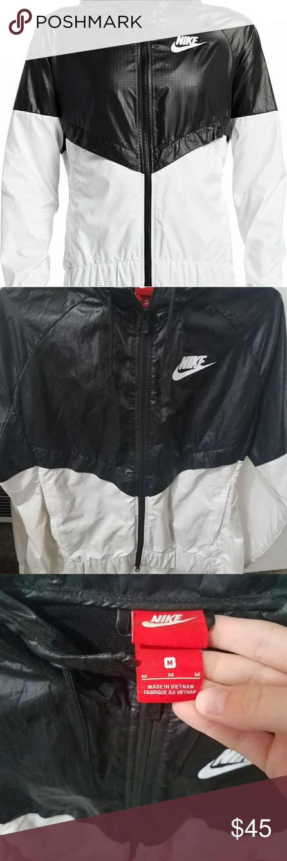 Nike womens sportswear jacket Womens nike jacket. Size medium. Worn very few times and still has a full life left. Easy to clean because of material. Nike Jackets & Coats