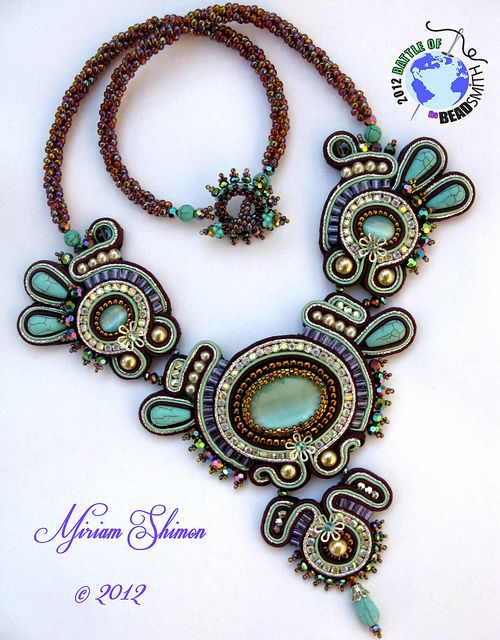 soutache -necklace  mishtiart.blogspot.com - follow me! :)