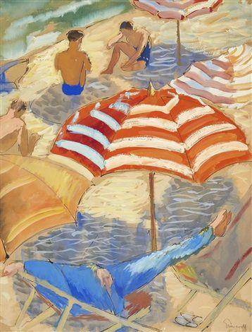 Isaac Grünewald - På Stranden 1933