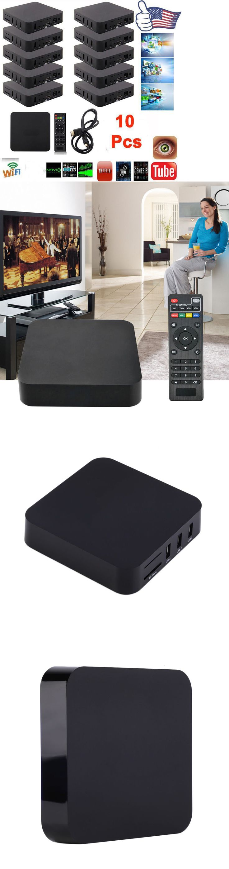 Internet and Media Streamers: Lot 10 Mxq Amlogic S805 Android 4.4 Quad-Core Wifi1080 Smart Set Tv Box 1+8Gb Mg -> BUY IT NOW ONLY: $233.95 on eBay!