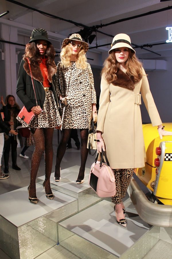 retro-inspired leopard ladies at kate spade fall 2013