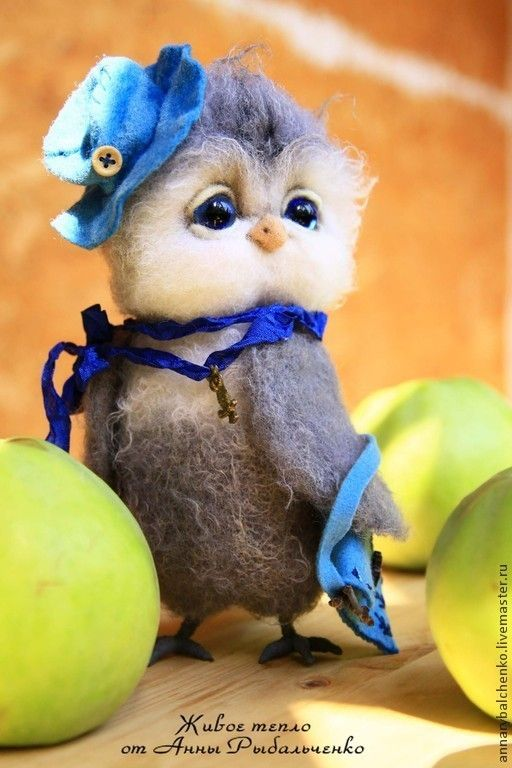 Купить Сова Василиса - серый, сова игрушка, сова из шерсти, сова валяная