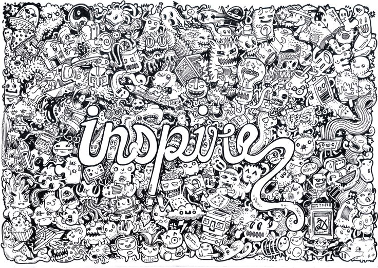 406 best Doodle Invasion Coloring Pages images on Pinterest